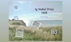 Ig Nobel Prize Presentation