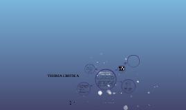 TEORIA CRITICA