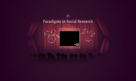 Paradigms in Social Research