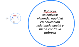 Politicas selectivas: vivienda, equidad en educación asisten