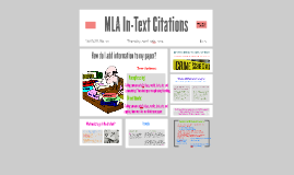 MLA In-Text Citations for Eng. 101