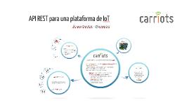 API REST para una plataforma de IoT