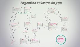 Argentina en la decada del '70, '80 y '90