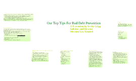 Top Tips For Bad Debt Prevention
