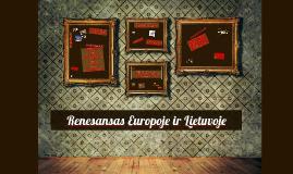 Renesansas Europoje ir Lietuvoje