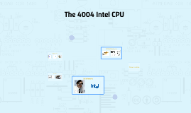 The 4004 Intel CPU
