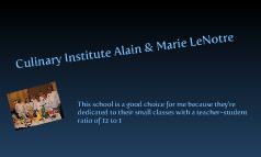 culinary institute alain & marie lenotre