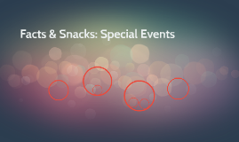 Facts & Snacks: Special Events