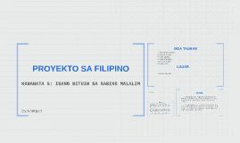 PROYEKTO SA FILIPINO