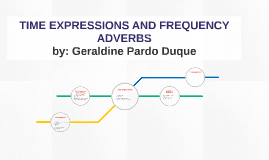 TIME EXPRESSIONS AND FREQUENCY  ADVERBS