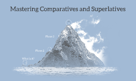 Mastering Comparatives and Superlatives