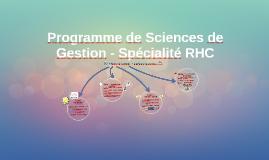 Programme de Sciences de Gestion - Spécialité RHC
