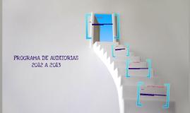 Auditorias 2012 al 2013