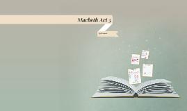 Macbeth Act 5