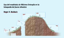 Modelo de Maxima Entropia MaxEnt