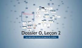 LAF1201 Dossier 0, Leçon 2
