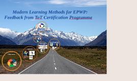 Feedback from ToT Certification Programme