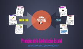 Principios de la Contratacion Estatal