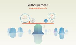 Author purpose