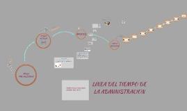 LÍNEA DEL TIEMPO DE LOS APORTES A LA ADMINISTRACIÓN