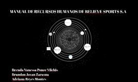 MANUAL DE RECURSOS HUMANOS DE BELIEVE SPORTS S.A