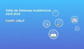 Taller Sistemas Académicos