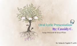 Oral Lyric Presentation