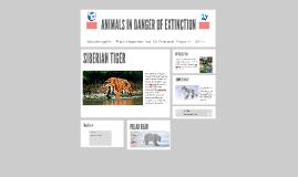 ANIMALS IN DANGER OF EXTINCTION