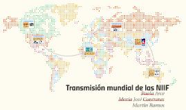 Transmisión mundial de las NIF