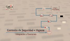 COMISIÓN DE SEGURIDAD E HIGIENE INTEGRACIÓN Y FUNCIONES