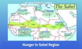 Hunger In Sahel Region