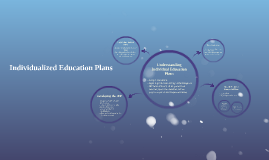 Individualized Education Plans