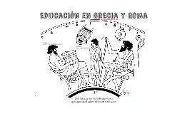 Educación en Grecia y Roma