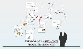 ESTADOS DE LA SITUACION  FINANCIERA BAJO NIIF.