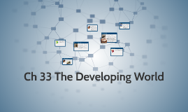 Ch 32 and 33 The Developing World and the World Today