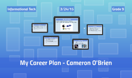 My Career Plan - Cameron O'Brien