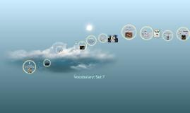 Vocabulary: Set 7