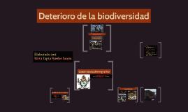 Deterioro de la biodiversidad