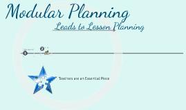 Effective Modular Planning
