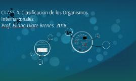 Clasificación de los Organismso Internacionales