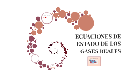 ECUACIONES DE ESTADO DE LOS GASES REALES