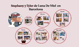 Stphany y Tyler de Luna De Miel  en Barcelona