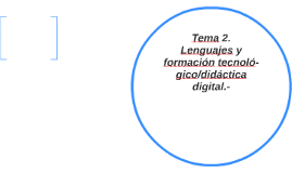 Tema 2.  Lenguajes y formación tecnoló-