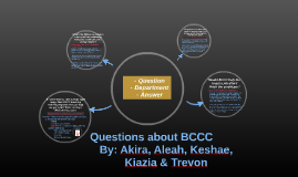 Questions about BCCC