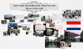 Anne Frank Remembered by Miep Gies and Alison Leslie Gold