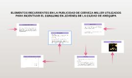 ELEMENTOS RECURRENTES EN LA PUBLICIDAD DE CERVEZA MILLER UTI