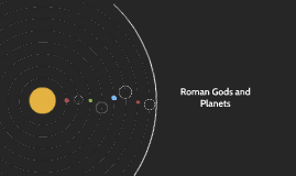 Roman Gods and Planets
