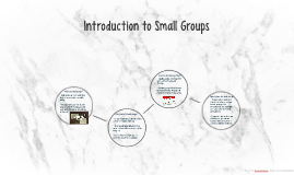 Introduction to Small Groups