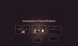 Iconography in Social Realisms