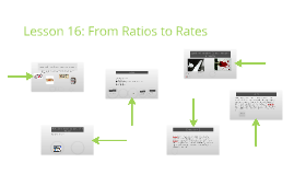 Lesson 16: From Ratios to Rates